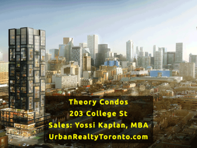 Theory Condos at 203 College St - Sales Yossi Kaplan