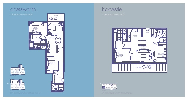 Two Bedroom Floorplans - 3018 Yonge in lawrence Park