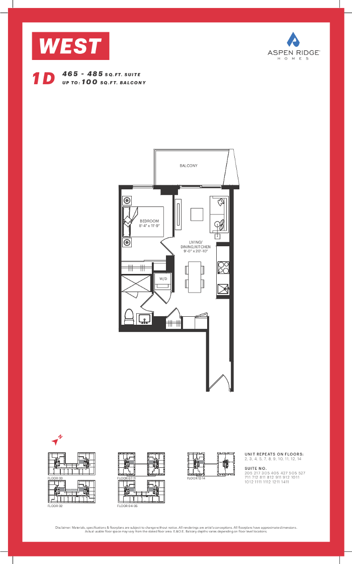 West Condos - 1D Floorplan - VIP Sales Yossi KAPLAN