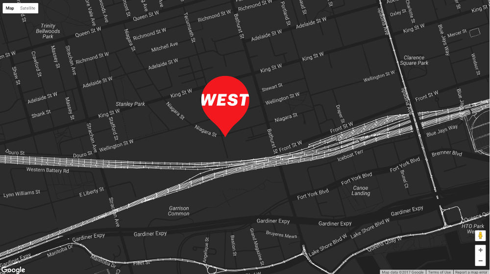 West Condos 89-109 Niagara Map - VIP Sales Yossi KAPLAN