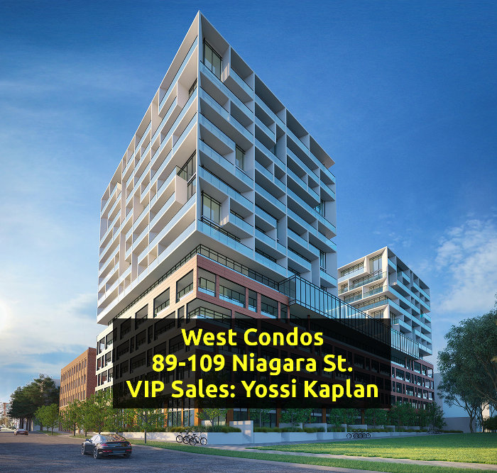 West Condos @ 89-109 Niagara St - Banner - VIP Sales Yossi Kaplan