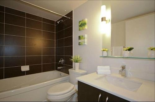 The Modern - One Bed + Den - Bathroom