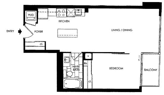 BOHEMIAN EMBASSY - ONE BEDROOM 615 SQ FT - CONTACT YOSSI KAPLAN