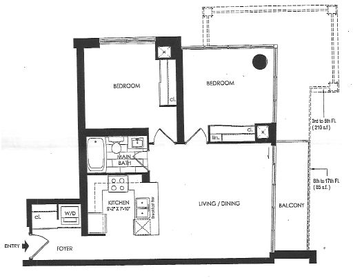 BOHEMIAN EMBASSY - TWO BEDROOM FOR RENT 790 SQ FT