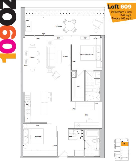 109 OZ LOFTS - FLOORPLAN TWO BEDROOM