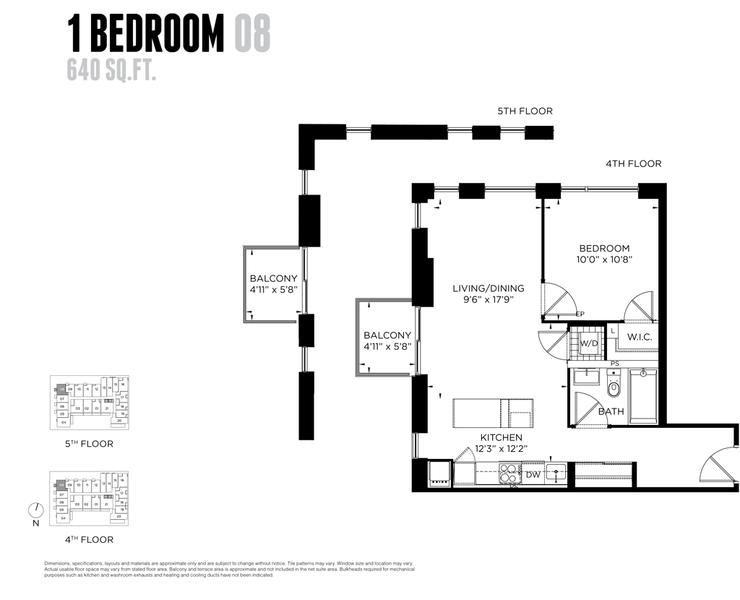 One Bedroom Condo for Sale @ 1093 Queen West 640 sq ft