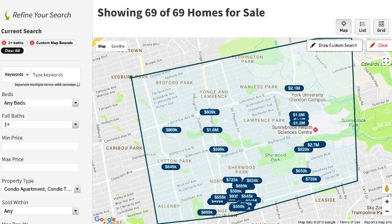 1171 Avenue Condos for Sale - Live Listing Map