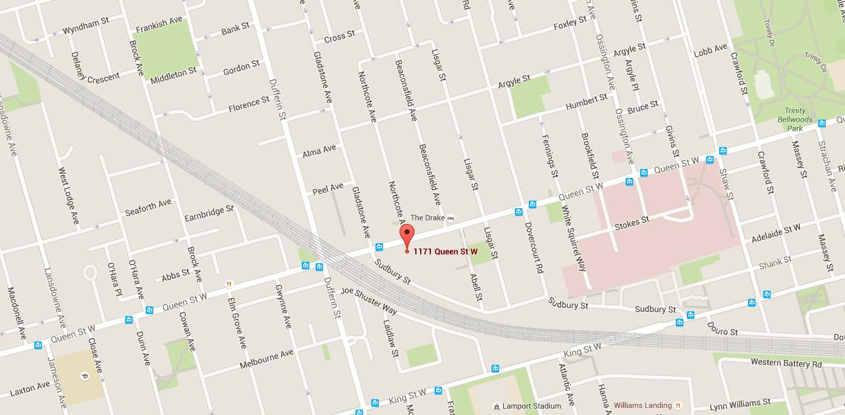 1171 QUEEN ST WEST LOFTS - MAPS