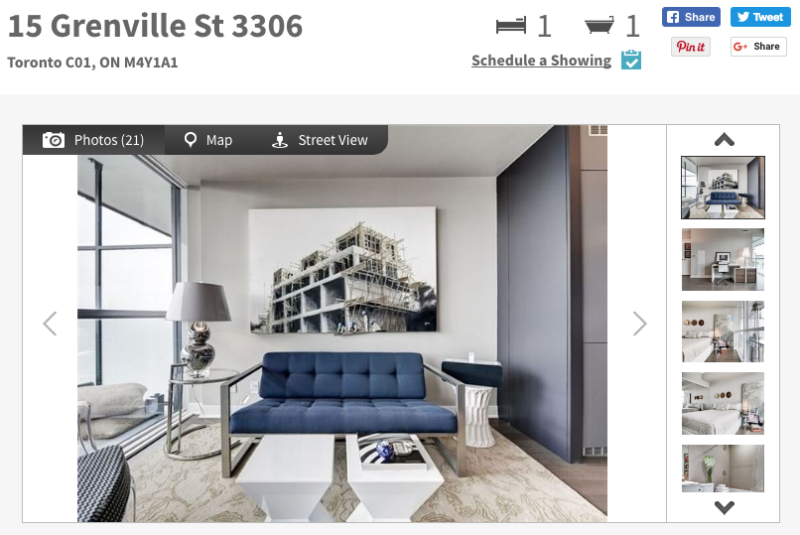 15 Grenville Condos - One Bedroom Suite for Sale