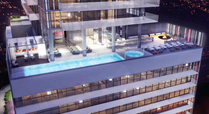 155 Redpath Amenities - Pool Terrace