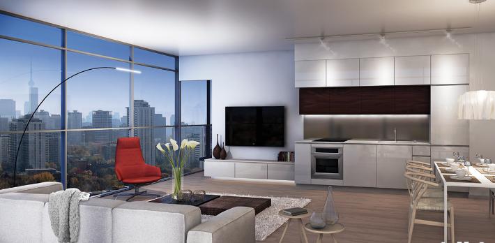 155 Redpath Condos for Sale - Corner Suite Interior