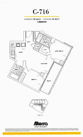 159SW - FLOORPLAN C-716 TWO BEDROOM