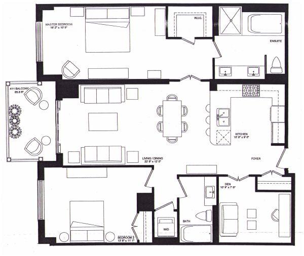 1717 Avenue Road - 2-Bed Floorplan