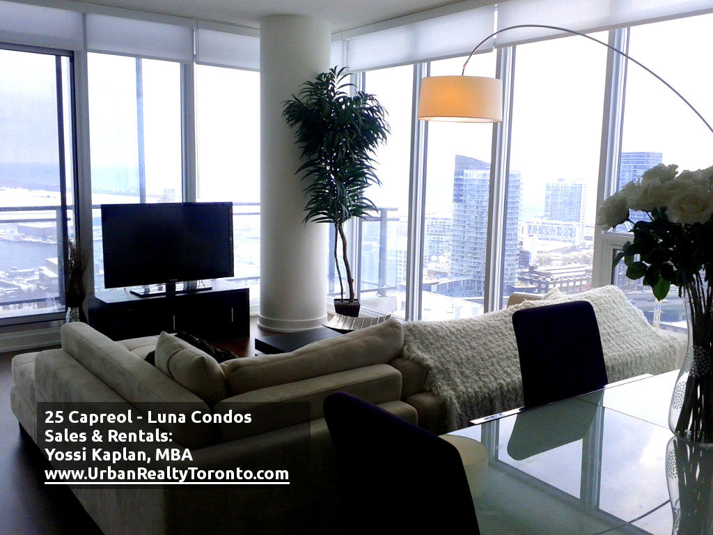 25 CAPREOL CONDOS FOR SALE - LIVING ROOM - by Yossi Kaplan