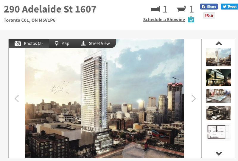 The Bond Condos @ 290 Adelaide West - One Bedroom Condo for Sale - Call Yossi KAPLAN