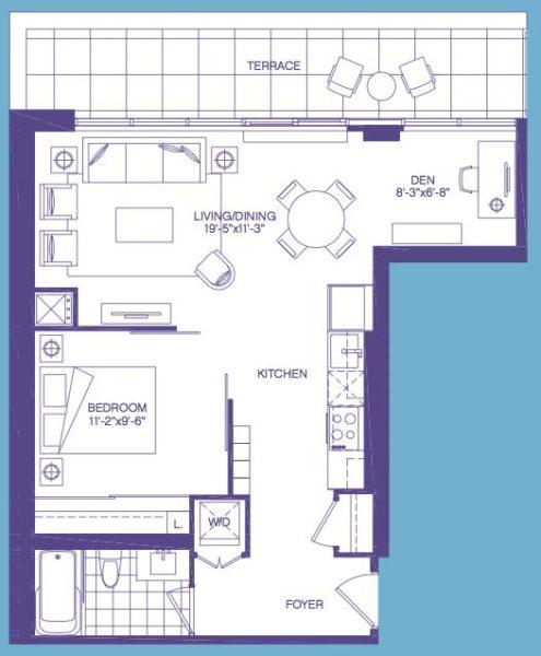 3018 Yonge St Floorplan - One + Den for Sale