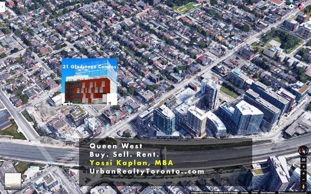 31 Gladstone Queen West - Aerial View - Sales Call Yossi Kaplan