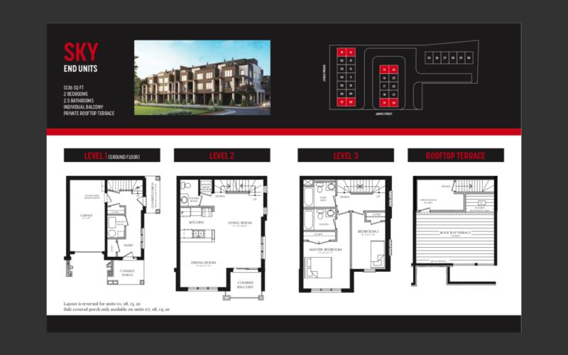 33 Jarvis Brantford - Sky End Unit Floorplan - Sales call Yossi Kaplan, MBA