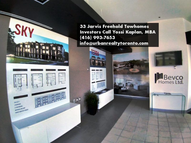33 Jarvis Brantford - Freehold Townhomes For Sale - Sales Centre - Investors Call Yossi Kaplan, MBA