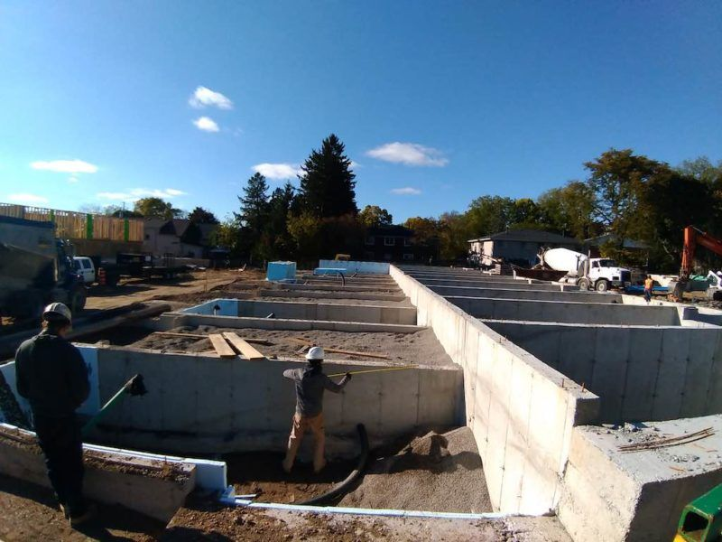 33 Jarvis St Brantford - Townhomes for Sale - Pouring Concrete