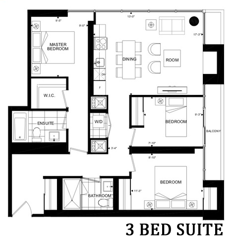 365 CHURCH STREET THREE BED SUITE - CONTACT YOSSI KAPLAN