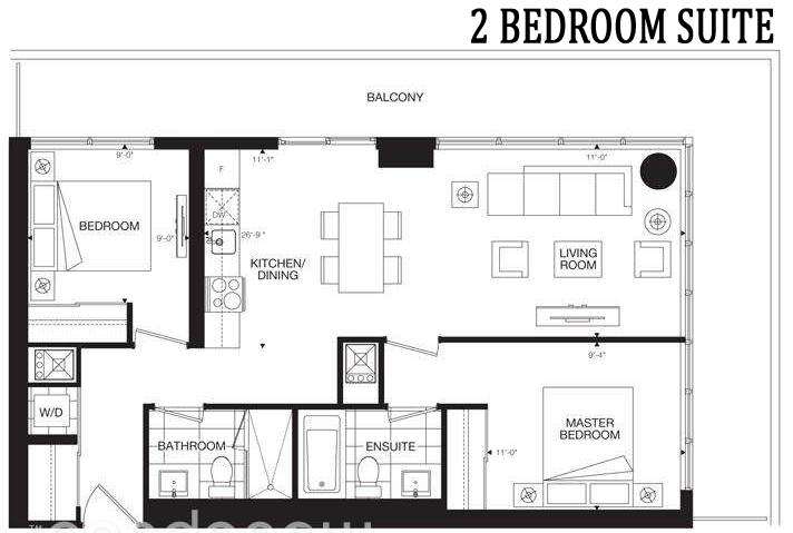 365 CHURCH STREET TWO BED SUITE - CONTACT YOSSI KAPLAN