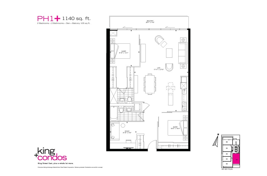39 SHERBOURNE ST - TWO BED PLUS DEN FOR SALE 1140 SQ FT - CONTACT YOSSI KAPLAN