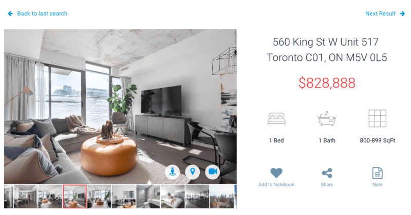 One Bedroom Condo for sale at 560 King West - Fashion House Condos