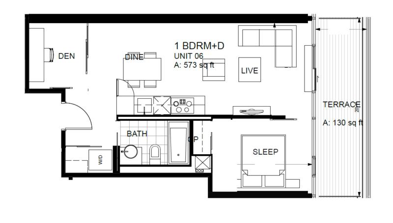 60 Colborne Condos - Floorplan One Bedroom 573 sq ft - Call Yossi Kaplan