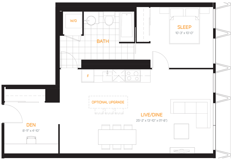 60 Colborne Condos - Floorplan Two Bedrooms 755 sq ft - Call Yossi Kaplan
