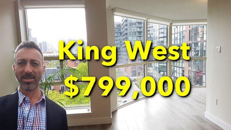 2-Bedroom 2-Bathroom King West Condo For Sale $799,000