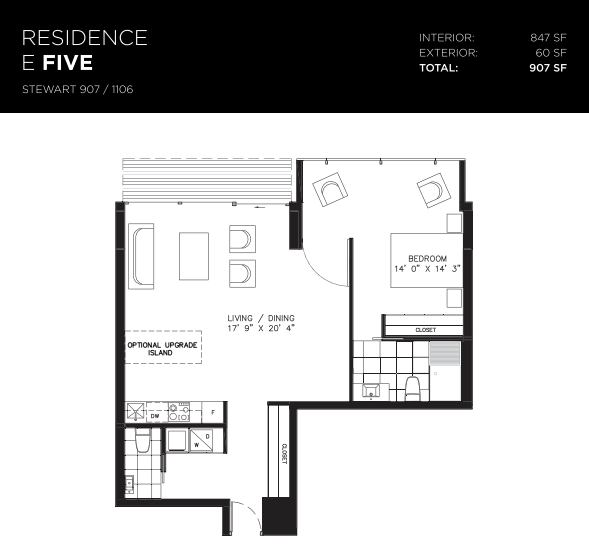 629 KING WEST - ONE BED FOR SALE - 847 SQ FT