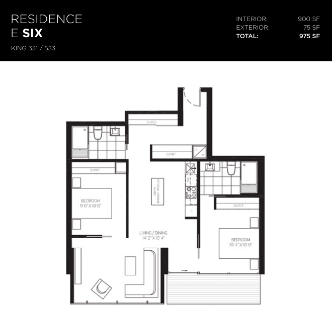 629 KING WEST - TWO BED FOR SALE - 900 SQ FT
