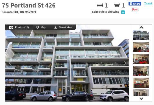 Condo for Sale @ 75 Portland Condos. Contact Yossi Kaplan.