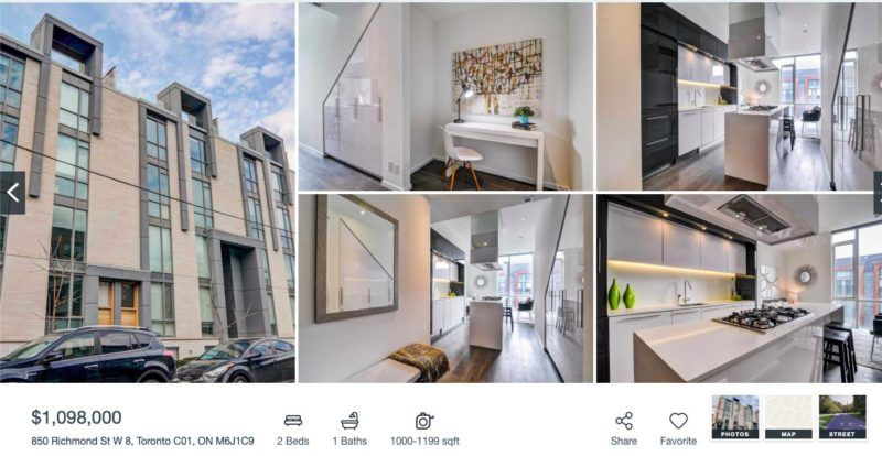 850 Richmond W - 2 Bedroom Townhome for Sale - Contact Yossi Kaplan