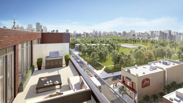 875 Queen St East - View from Balcony
