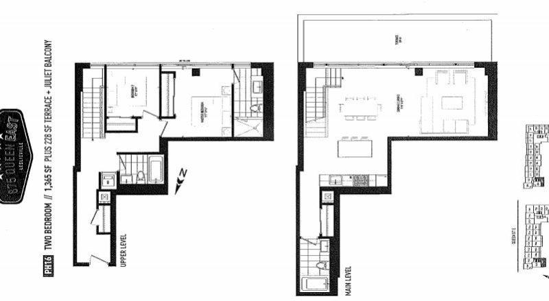 875 Queen St East Floorplans - Two Bed Plus Den 1365 - Contact Yossi Kaplan