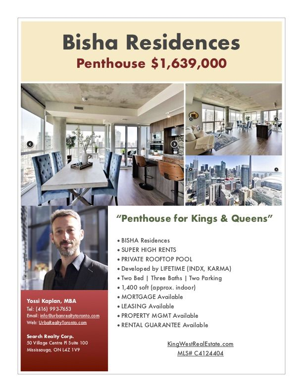 88 Blue Jays Way - Bisha Condos for Sale - PENTHOUSE - by Yossi KAPLAN
