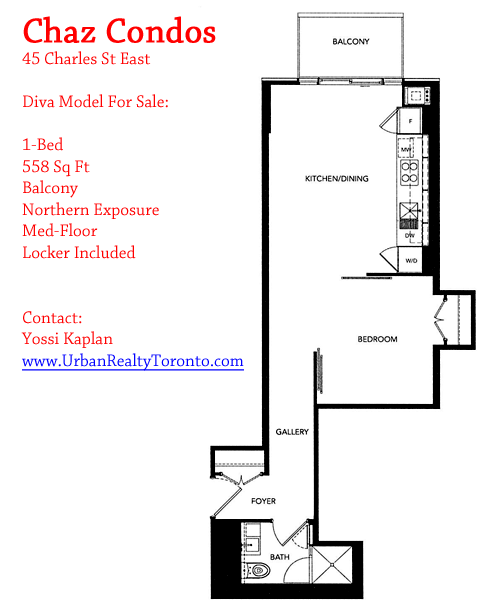CHAZ CONDOS FOR SALE - ONE BED DIVA - CONTACT YOSSI KAPLAN