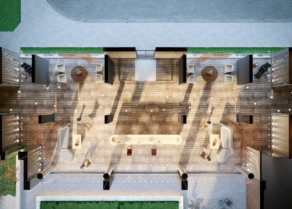 Crosstown Condos - Crosstown One Lobby and Amenities plan - VIP Sales & Rentals by Yossi Kaplan, MBA
