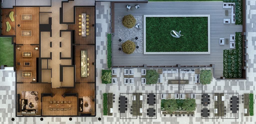 Crosstown Condos - Crowsstown One Level 4 Amenity Plan - VIP Sales & Rentals by Yossi Kaplan, MBA