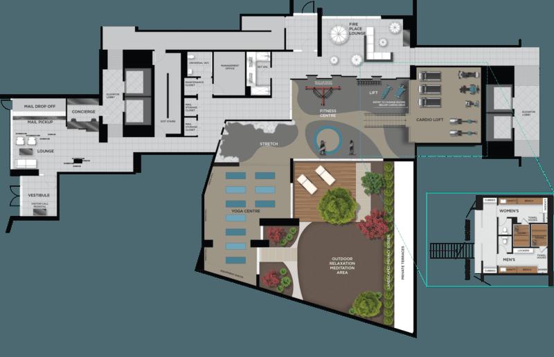 East Junction Condos - Second Floor Amenities