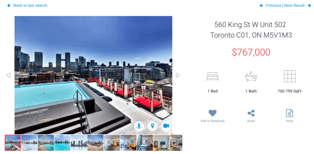 Fifth Floor One Bedroom Fashion House Condo For Sale