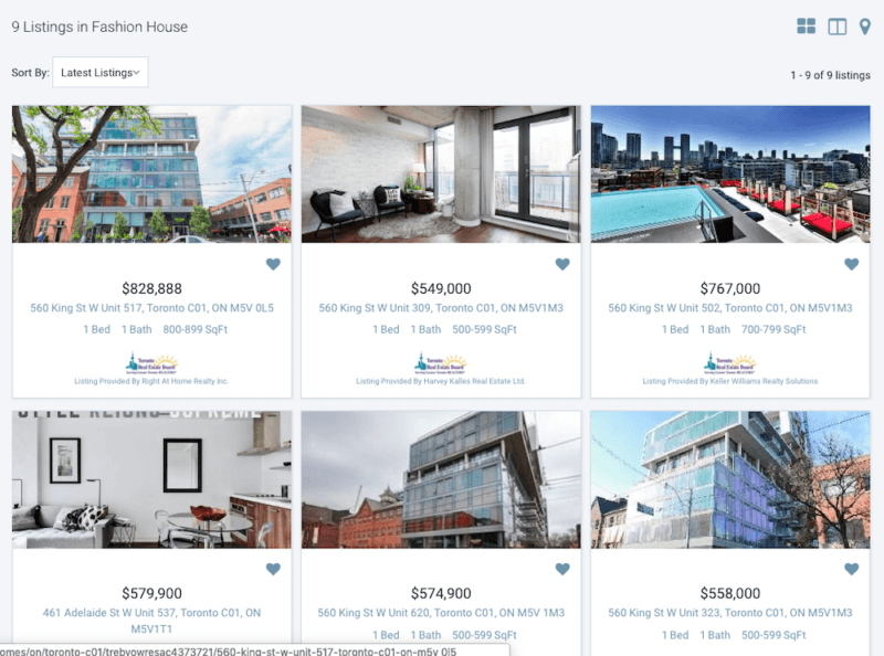 Fashion House Condos For Sale - Live Listings Updates 24/7