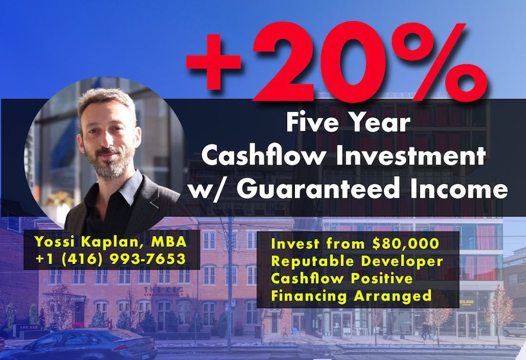 Founders Residences - 5-Yr Guaranteed Income & Cashflow Investment - Yossi Kaplan, MBA