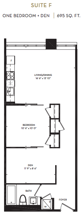 IMPERIAL PLAZA CONDOS FOR SALE - ONE BED PLUS DEN 695 SQ FT