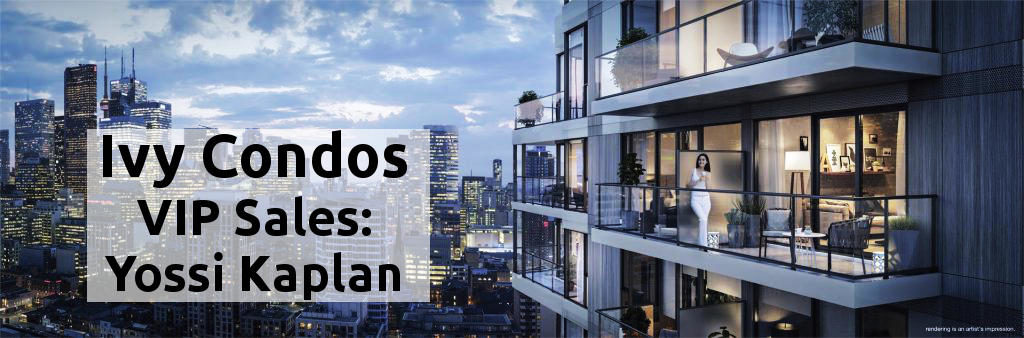 Ivy Condos @ 69 Mutual St - Yossi Kaplan, VIP Sales - Ivy Condos balcony at night