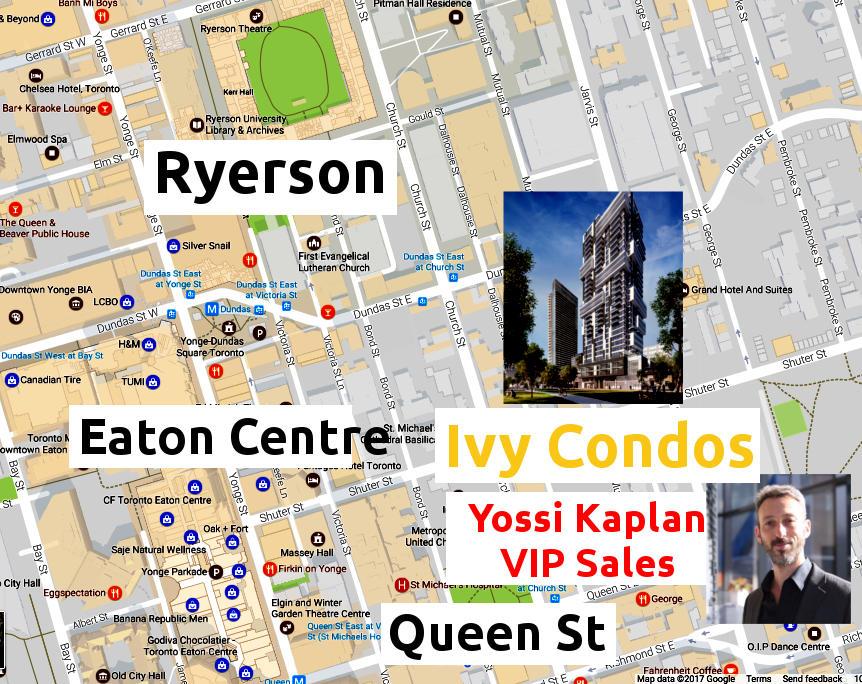 Ivy Condos at 69 Mutual St - Area Map - VIP Sales call Yossi Kaplan