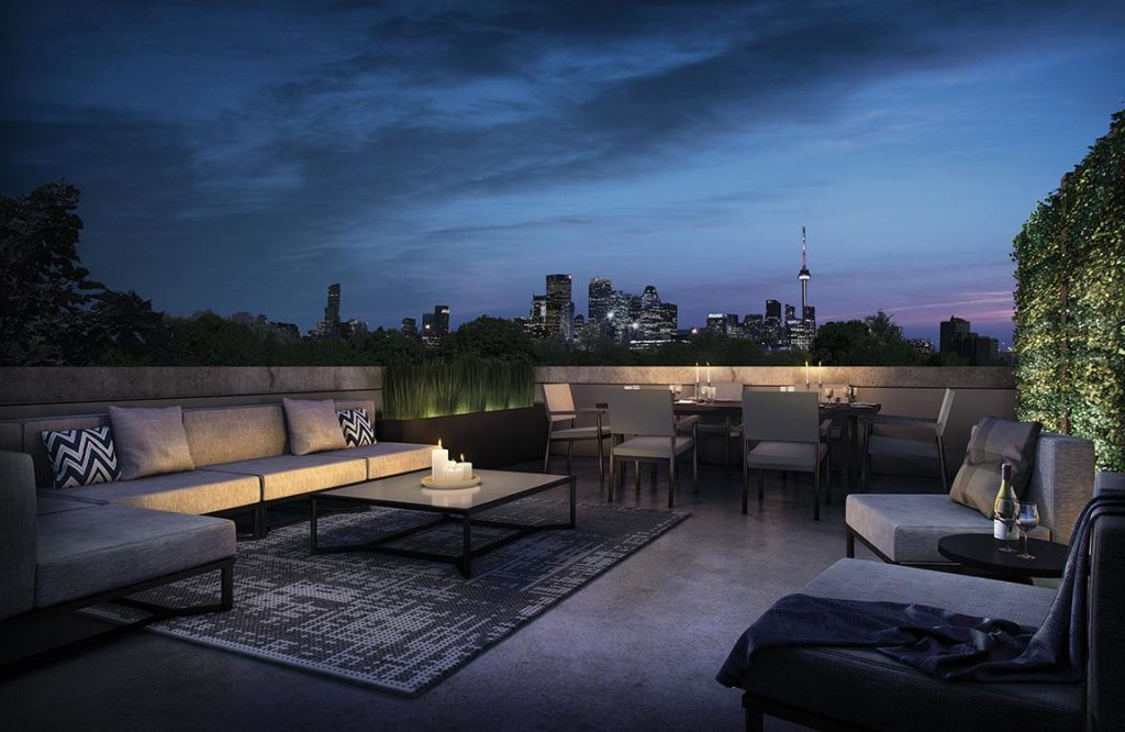 Heritage Townhomes at 26 Ernest Ave Toronto (Rooftop)