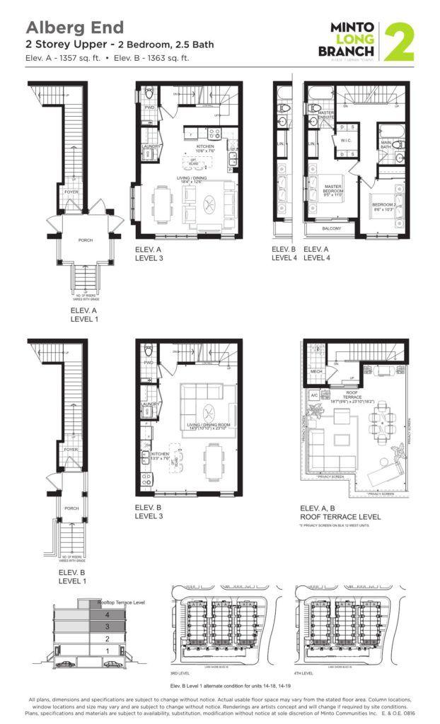 Minto Longbranch Townhomes - Alberg ENd 2 Floorplan